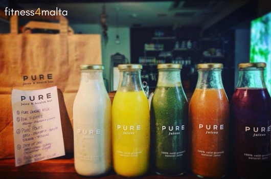 Cold pressed juises selection